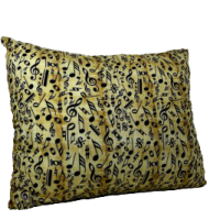 music theme large sofa pillow