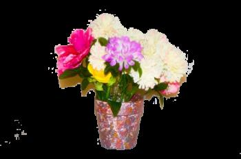 unique flower pot accent